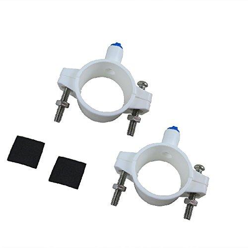 lemoy RO Wasser Filter Ablaufgarnitur Sattel Ventil mit 1/10,2cm Quick Connect für Umkehrosmose (RO) Systeme 2 pcs