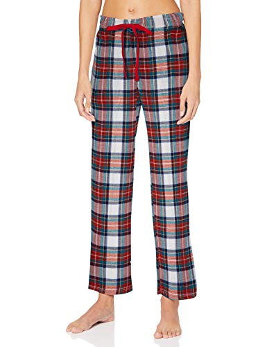 Women' Secret Pantalón Largo de Pijama Estampado Cuadros, Morado/Lila, M para Mujer