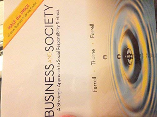 Business and Society 5th.ed. Paperback 2016 Ferrell