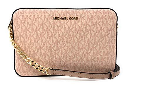 """PVC with fabric lining and gold tone hardware. Adjustable crossbody strap with 23"""" drop. Interior features 2 slip pockets; 9.5"""" W x 6"""" H x 2"""" D. Top zipper closures. Imported."""