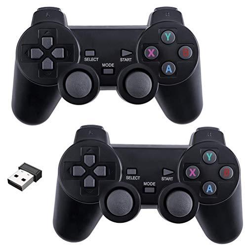 Kidnefn Easy Wireless Game Joystick Controller, 2.4G Wireless Game Pad Joystick PC, Vibración Dual, 8 Horas de Juego para PC/teléfonos Android, tabletas, TV Box