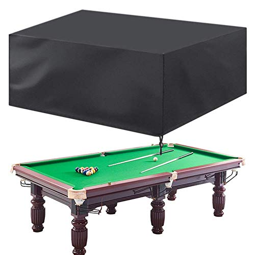 FWZJ Billiard Table Cover, Garden Furniture Covers, Heavy Duty Waterproof Sofa Tables And Chairs Cover For Outdoor Anti-snow Anti-UV (Color : Black, Size : 113 * 61 * 32.5in)