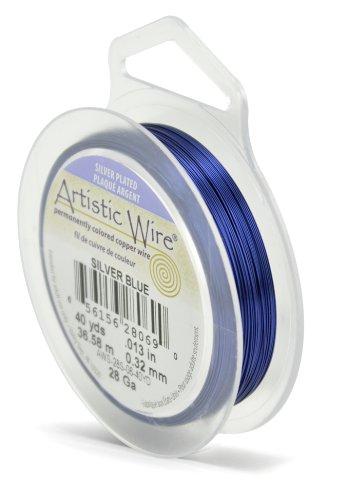 Artistic Wire Beadalon 40 914 28 g Câble plaqué argent/Bleu