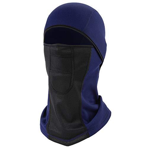 Balaclava Ski Face Mask UV Protection, Waterproof Windproof Breathable Thermal Fleece Hood Neck Gaiter Winter Sports Headwear for Skiing Snowboarding Motorcycling Running Walking(Navy Blue)