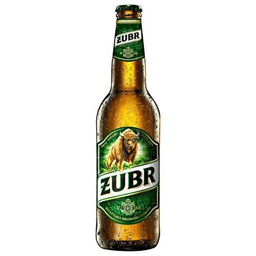 20 Flaschen a 0,5L Zubr Pils a 6% vol. inc. 1.60€ MEHRWEG Pfand Polen
