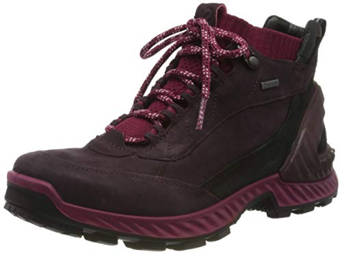 Ecco Damen EXOHIKEW Hohe Sneaker, Rot (Fig/Sangria 51836), 41 EU