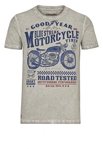 Goodyear T-Shirt TOWSON - Ecru Größe L