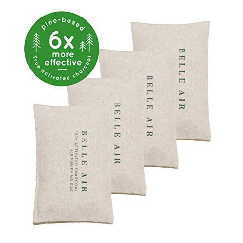 New Belle Air 100% Activated Charcoal Air Purifying Bags | 6 to 8 Times More Effective Than Bamboo C...