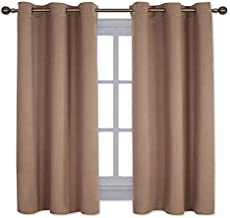 NICETOWN Window Treatment Thermal Insulated Solid Grommet Blackout Curtains/Drapes for Bedroom (Set of 2 Panels, 42 by 63 Inch, Cappuccino)