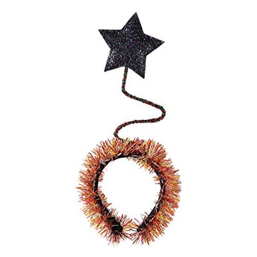 PRETYZOOM Pailletten Stirnband Glitter Star Boppers Stirnband Folie Kopfschmuck für Kinder Mädchen Kinder Frauen Kostüm Haarschmuck (Bunt)