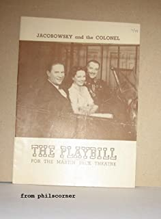 PLAYBILL: JACOBOWSKY and the COLONEL - MARTIN BECK THEATRE ORIGINAL RUN