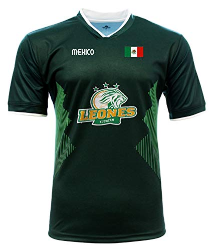 Jersey Mexico Leones de Yucatan 100% Polyester_Made in Mexico (Large) Green