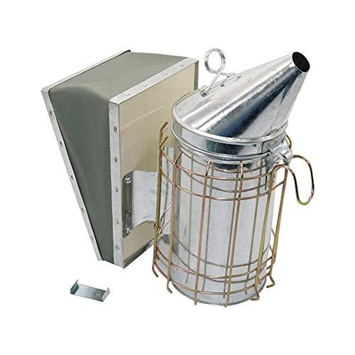 MINGMIN-DZ Dauerhaft Edelstahl Rauch Sprayer Bee Raucher Bienenzucht Imker gewidmet Smoked Biene Bienenzucht Ausrüstung 1 Pc (Color : Silver)