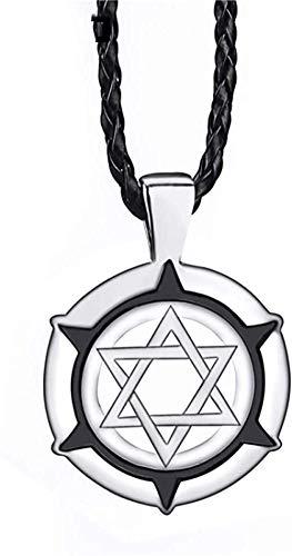 Zaaqio Collar con Colgante de Estrella de David judía para Hombre