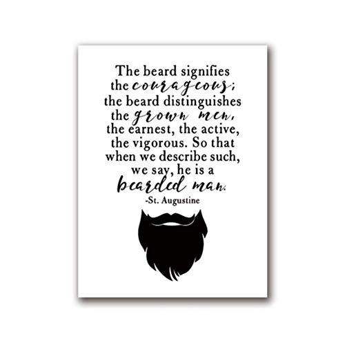 Cita del hombre barbudo de San Agustín Arte de la pared Carteles de l