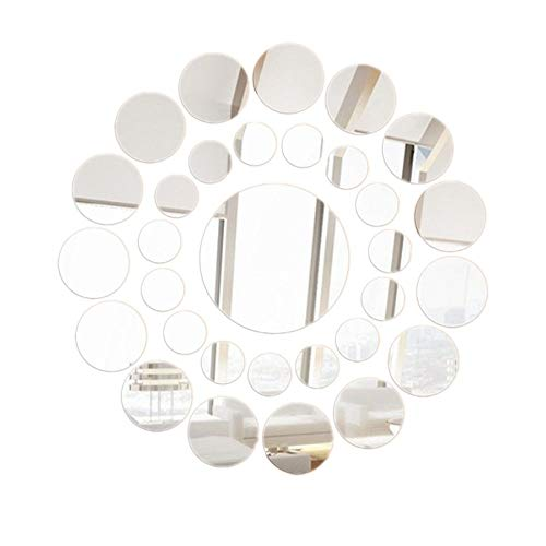 Removable Wall Sticker Clearance Sale, Libermall 34pcs Acrylic Round Mirror Wall Sticker Home Decor DIY Art Wall Mural Decal Stickers, Best for Living Room Creative Decorative Wall Decals