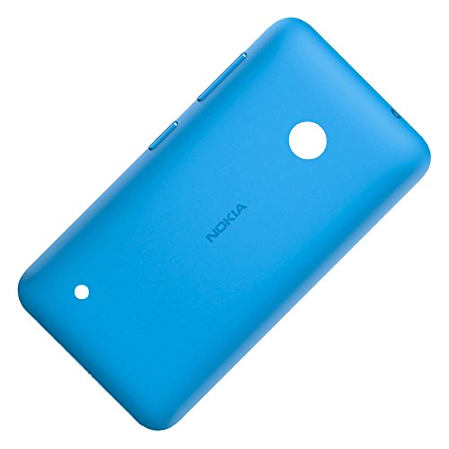 Original Akkudeckel cyan für Nokia Lumia 530 und 530 Dual Sim inklusive Ein/Aus und Laut/Leise Taste