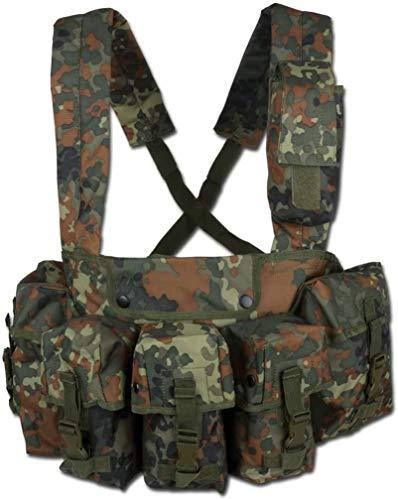 Mil-Tec Chest Rig M4/M16 G36 G3/M14 Vest Airsoft Flecktarn Camo