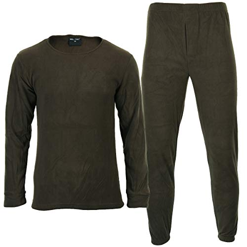 Sous-vêtements Thermofleece Col rond olive - 40