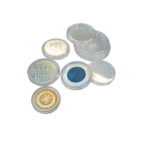 25 SAFE Münzkapseln CAPS 39 - Ideal für 5 $ Canada Dollar Meaple Leaf - 5 Mark Dt. Kaiserreich - 1 $ US Dollar alt Münzen - Coincaps - Münzenkapseln