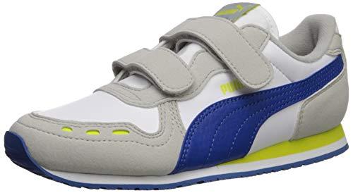 PUMA Kids' Cabana Racer Hook and Loop Sneaker, White-Galaxy...
