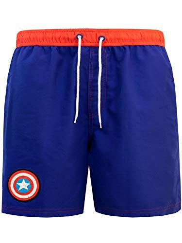 Marvel Herren Captain America Badeshorts Blau X-Large
