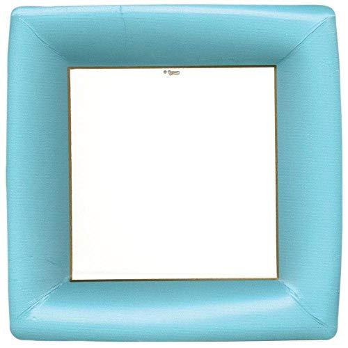 Caspari 6012DP Grosgrain Paquet de 8 Assiettes, Non-Bâton, Bleu, 27 x 27 x 0,02 cm