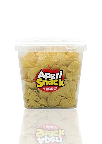 APERI SNACK Aperisnack® - AP03.006.03 -Tortilla Chips Nachos Barbeque Secchiello Salva freschezza da 800gr. Tortillas Gusto BBQ