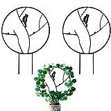 YIREAUD 2 enrejados de jardín para plantas trepadoras, 45,72 cm, soporte...
