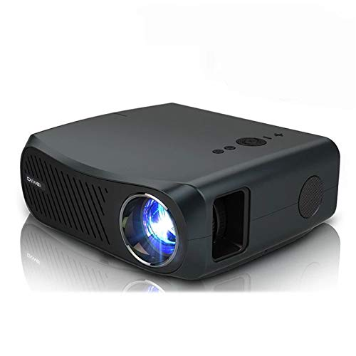 EXCLVEA Beamer HD-Projektor A12 1920x1080P Projektor Home Cinema HDMI 3D-Videobeamer for 4K für das Spielen Filme (Farbe : Black, Size : A12)