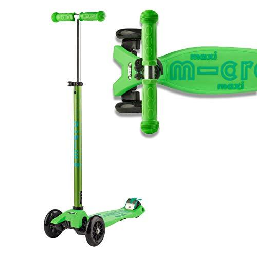 Micro Mobility - Maxi Deluxe Vert - Trottinette Enfant - Plusieurs Fois Jouet de l'année - Créée en Collaboration avec des Professionnels de la santé. - De 5 à 12 Ans - Vert