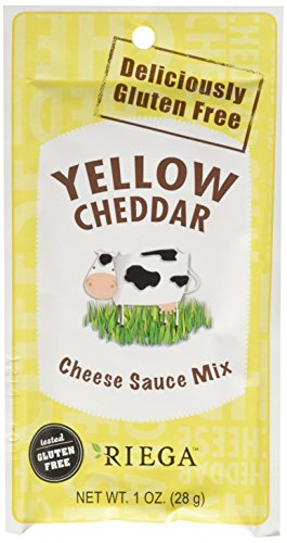 Riega Yellow Cheddar Cheese Sauce Mix, 1 Ounce (Pack of 8)