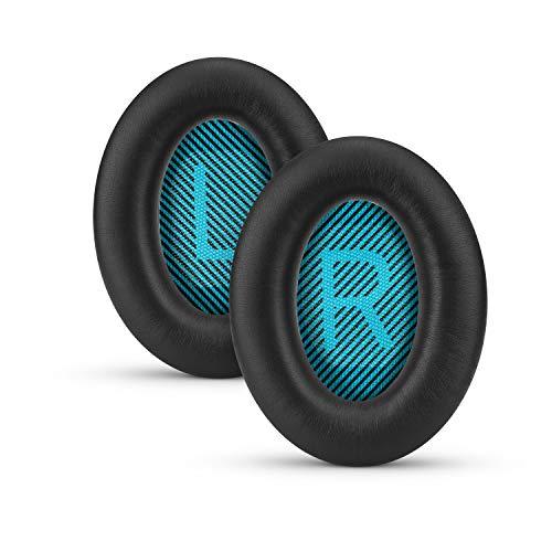 Replacement Earpads for Bose QuietComfort QC 15 25 35 Premium Ear Pads QC15 QC25 QC35 AE2 & SoundLink, Memory Foam, Soft & Long Lasting by Brainwavz