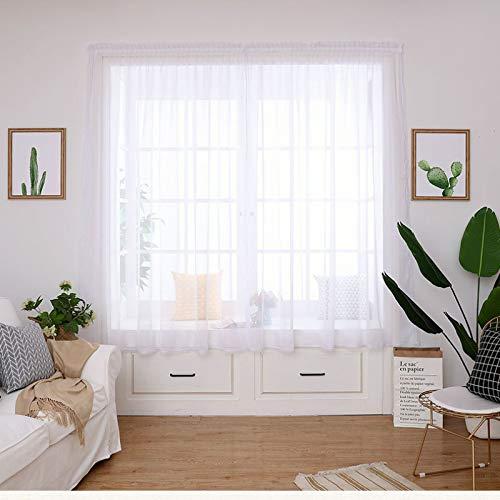 Faux Linen Eyelet Sheer Curtain Panel for Bedroom Living Room Patio Door,160cmx270cm