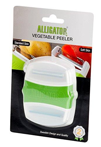 Alligator Duo-Sparschäler Gemüseschäler, Kunststoff, Limette, 8.8x7.3x2 cm