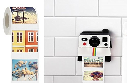 Polaroll Polaroid Camera Shaped Toilet Paper Roll...