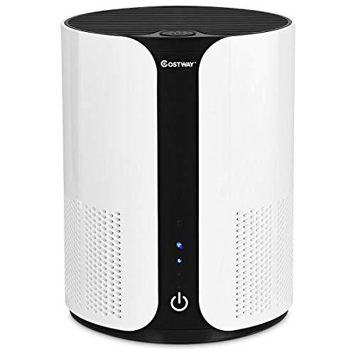 COSTWAY Luftreiniger, Air Purifier mit 3 Geschwindigkeiten, Desktop-Luftfilter 3-Stufen-Filterung, Raumluftfilter Zuhause, Büro (Luftreiniger)