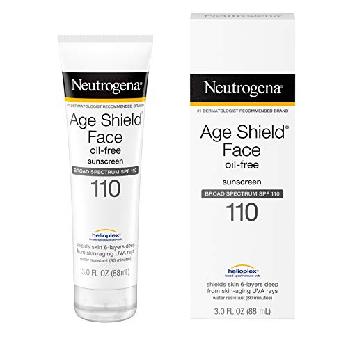 Neutrogena Age Shield Face Lotion Sunscreen with Broad Spectrum SPF 110 OilFree amp NonComedogenic Moisturizing Sunscreen to Prevent Signs of Aging 3 fl oz
