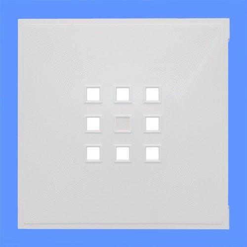 Designer Regaltür als Fach-Einsatz, Regalsysteme mit Mass ca. 33,6cm x 33,6cm, Tür für Ikea Regal Expedit Kallax Nornäs - Würfel Flexi - XXXL Lutz - Quelle Raumteiler -Variation in (Weiss)