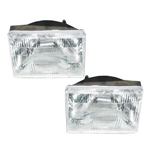 Headlights Headlamps Left & Right Pair Set for 93-98 Jeep Grand Cherokee