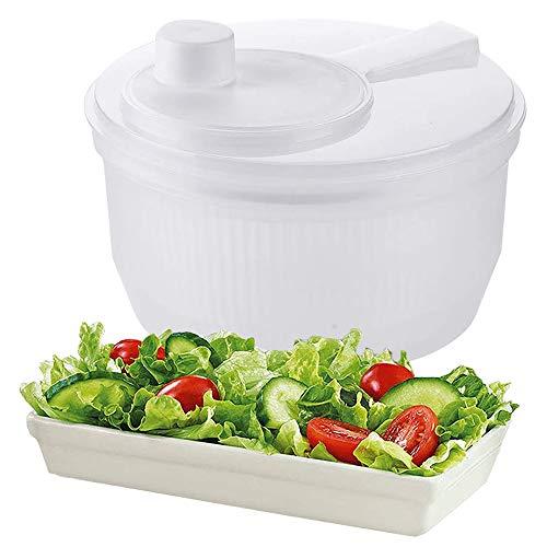 Cooking Details Salad Spinner 2 Quart Lettuce Vegetables Washer Dryer Drainer Crisper Strainer for Home Kitchen Washing & Drying Leafy Vegetables BPA Free and Dishwasher safe