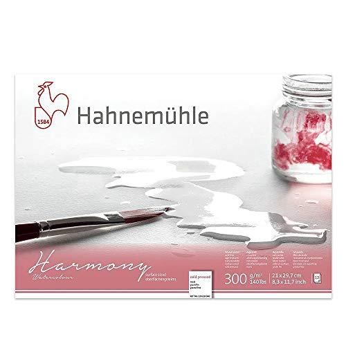 Hahnemuhle Harmony - Bloc de papel de acuarela (A4), prensado en frío