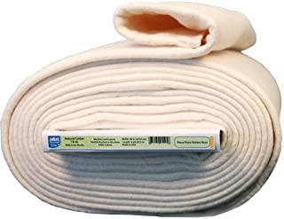 Ultra Clean Pellon Natural Cotton Batting With Stabilizing Scrim Binder, 96