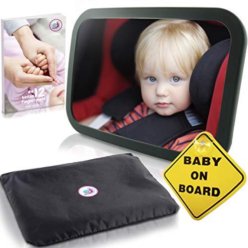 Baby auto spiegel achterbankspiegel met 6 delen I universele autospiegel babyspiegel voor baby's in de auto kinderzitje I kwaliteitsachteruitkijkspiegel voor babyschaal babystoel