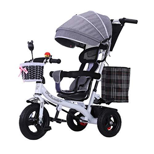 MMLI-Patinetes eléctricos 4 en 1 Triciclo De NiñOs Cochecito De Empuje Ajustable...