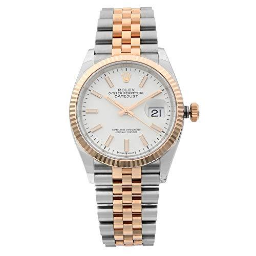 Rolex Datejust 36mm acero 18k Everose oro blanco dial automático hombres reloj 126231