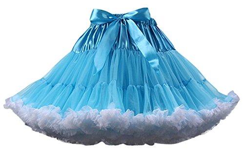 FOLOBE FOLOBE Erwachsene luxuriöse weiche Chiffon Petticoat Tüll Tutu Rock Damen Tutu Kostüm Petticoat Ballett Tanz Rock