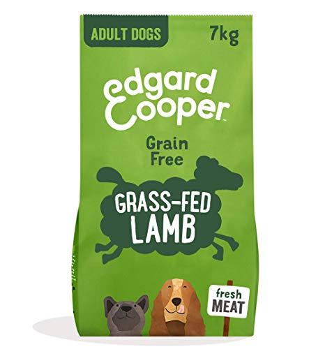 Edgard & Cooper pienso para Perros Adultos sin Cereales, Natural con Cordero Fresco, 7kg. Comida Premium balanceada sin harinas de Carne ni Carnes sobreprocesadas, cocinada a Baja Temperatura