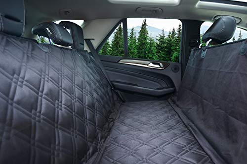 Bulldogology Premium Dog Car Seat Covers - Pet Cover Bench and Hammock-Style...
