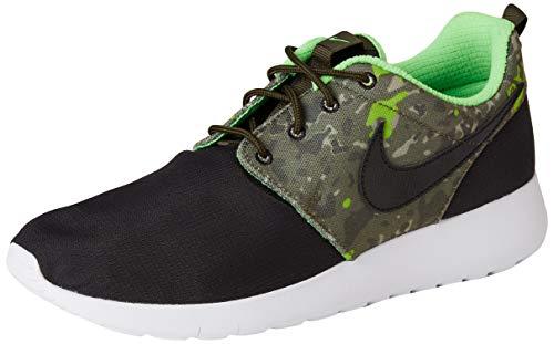 Nike Roshe One Print GS 677782-008, Zapatillas Unisex Adulto, Negro/Marrón (Black/Black-CRG Khaki-grn...